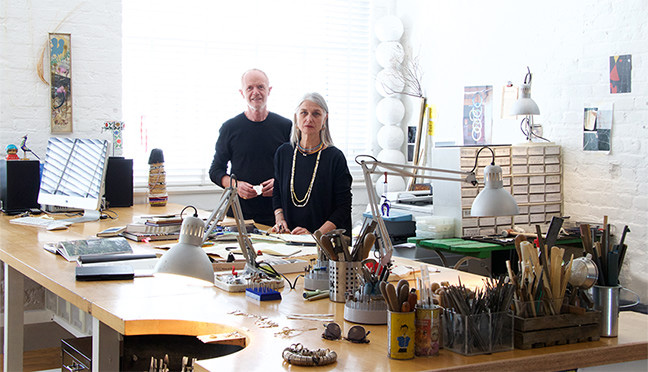 Gary and Sheila in their new atelier