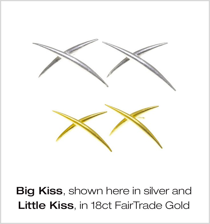 The Big Kiss and Little Kiss earrings